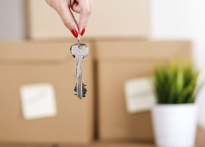 Parent handing over home keys