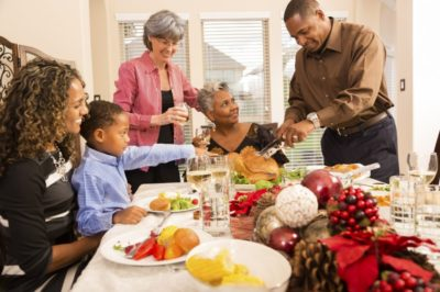 Multigenerational family gathering for the holidays